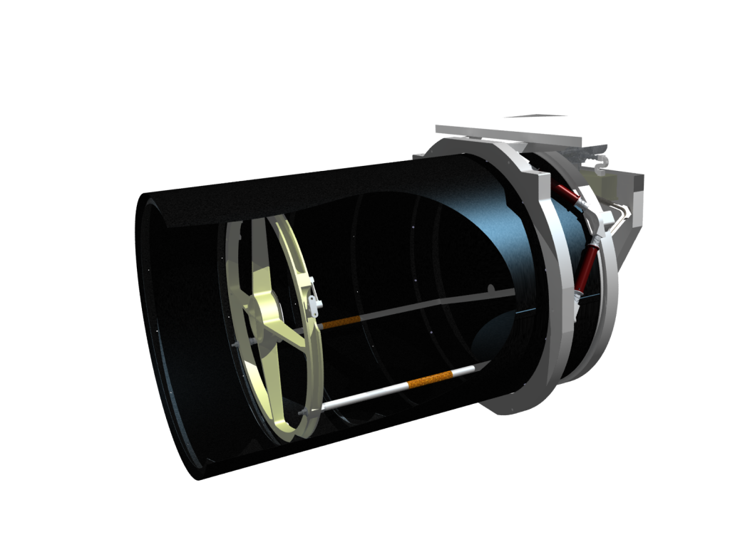 Cut-away render of Twinkle telescope
