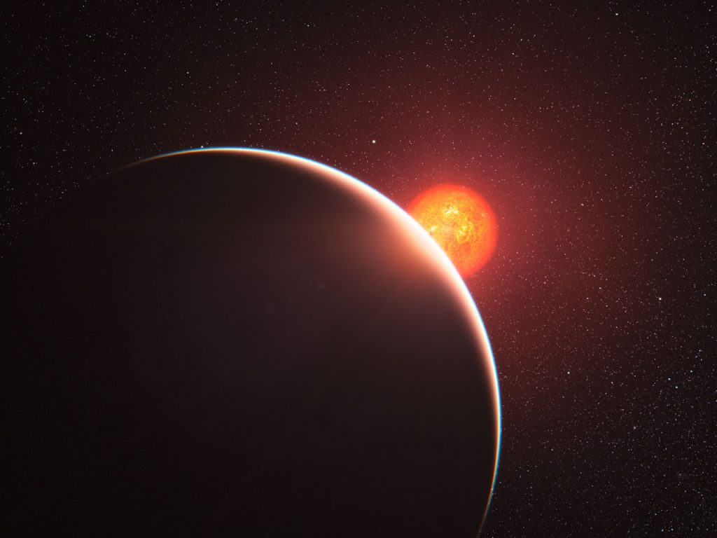 Artist's impression of exoplanet
